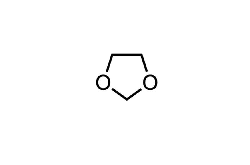1,3-ジオキソランの構造式