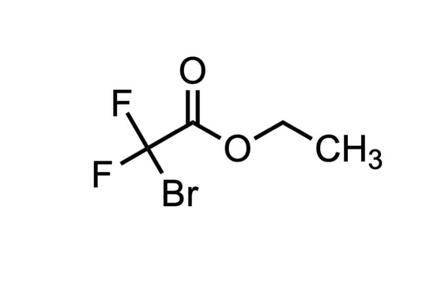 ブロモジフルオロ酢酸エチルの構造式