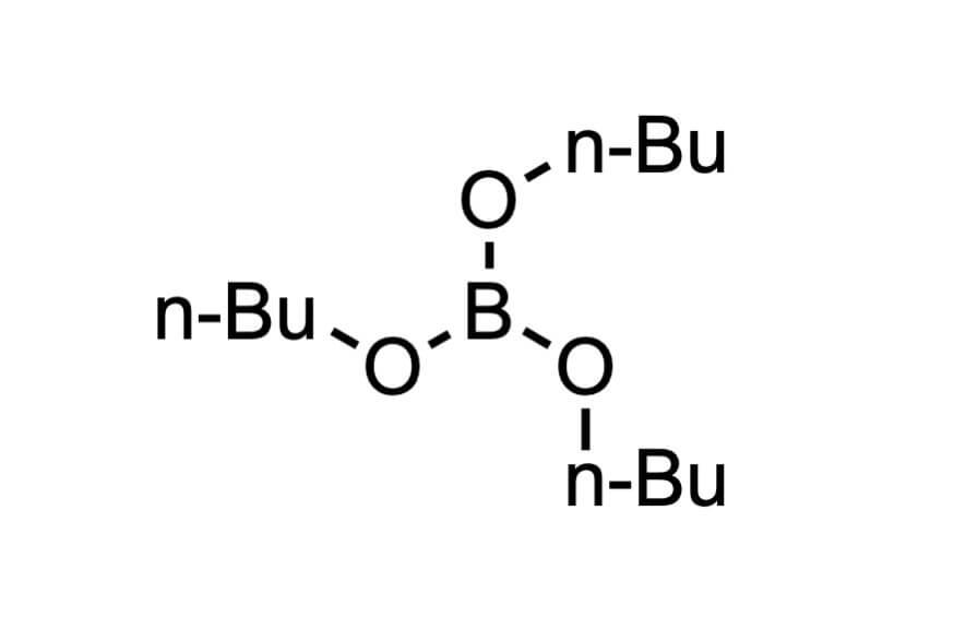 ほう酸トリブチルの構造式