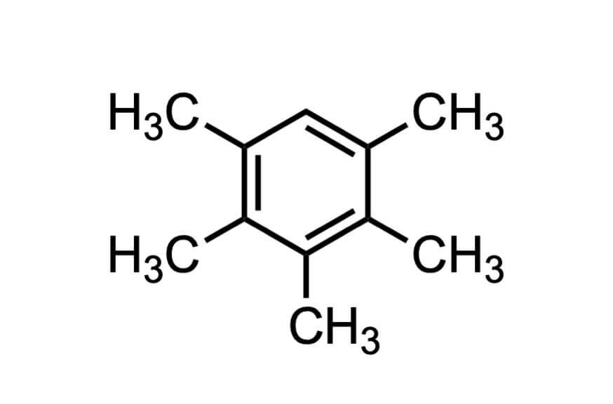 ペンタメチルベンゼンの構造式