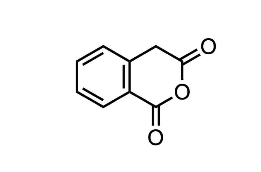 ホモフタル酸無水物の構造式
