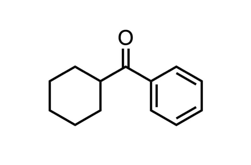 シクロヘキシルフェニルケトンの構造式