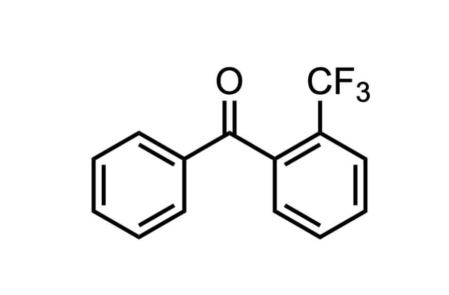 2-(トリフルオロメチル)ベンゾフェノンの構造式