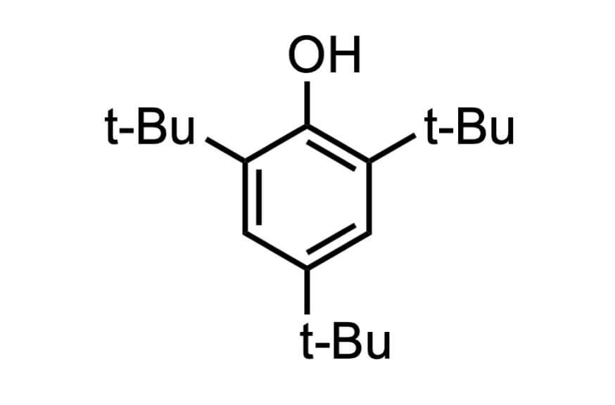 2,4,6-トリ-tert-ブチルフェノールの構造式