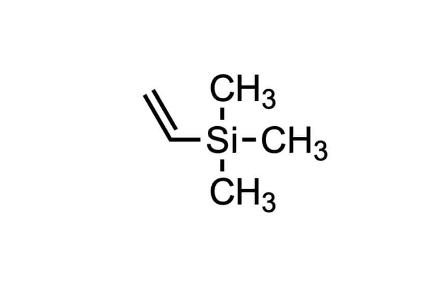 ビニルトリメチルシランの構造式