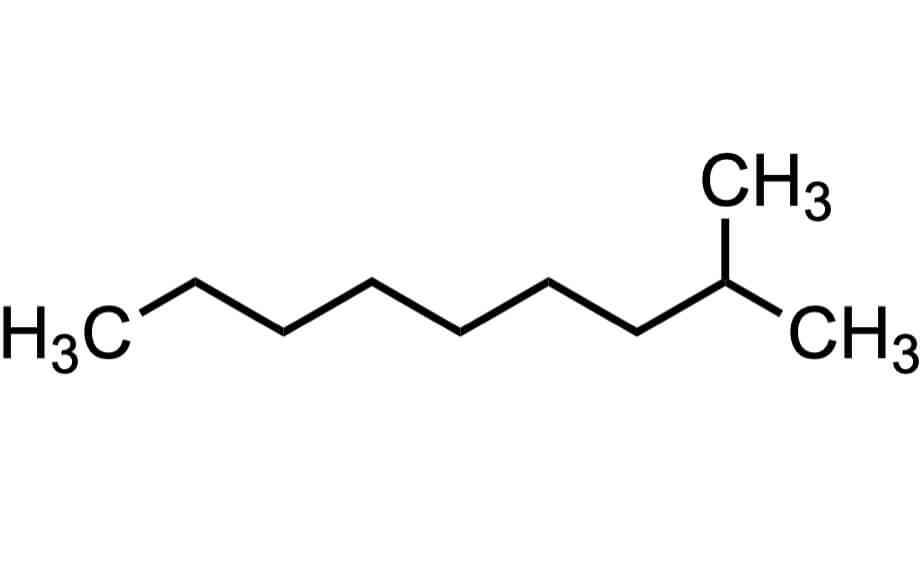 2-メチルノナンの構造式