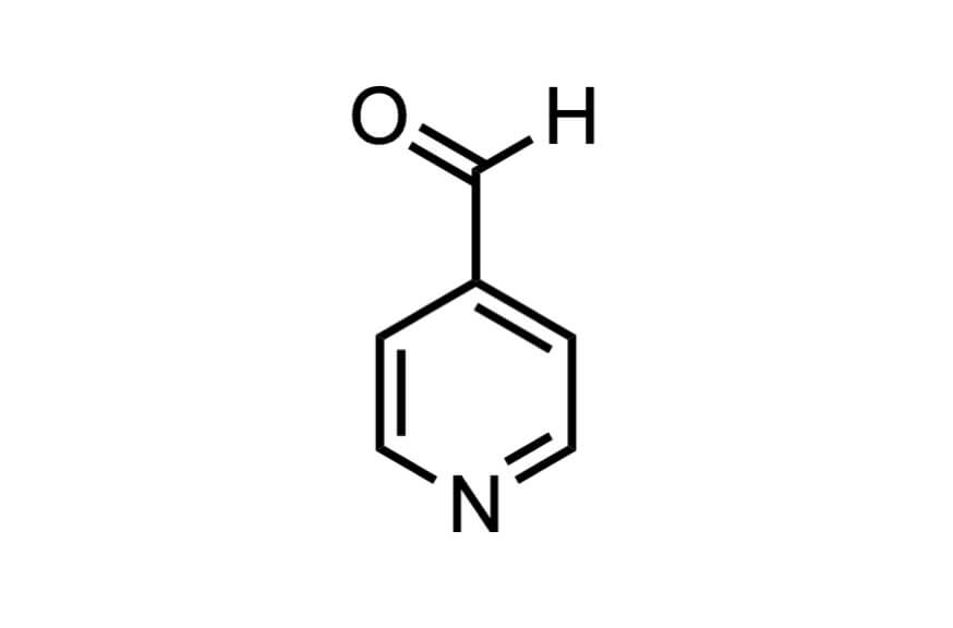 4-ピリジンカルボキシアルデヒドの構造式