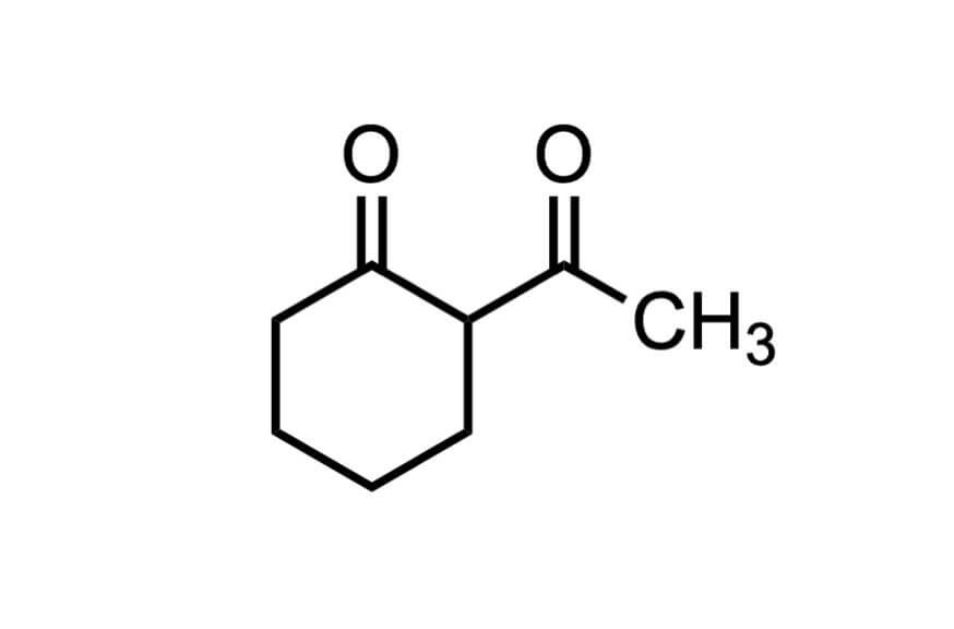 2-アセチルシクロヘキサノンの構造式