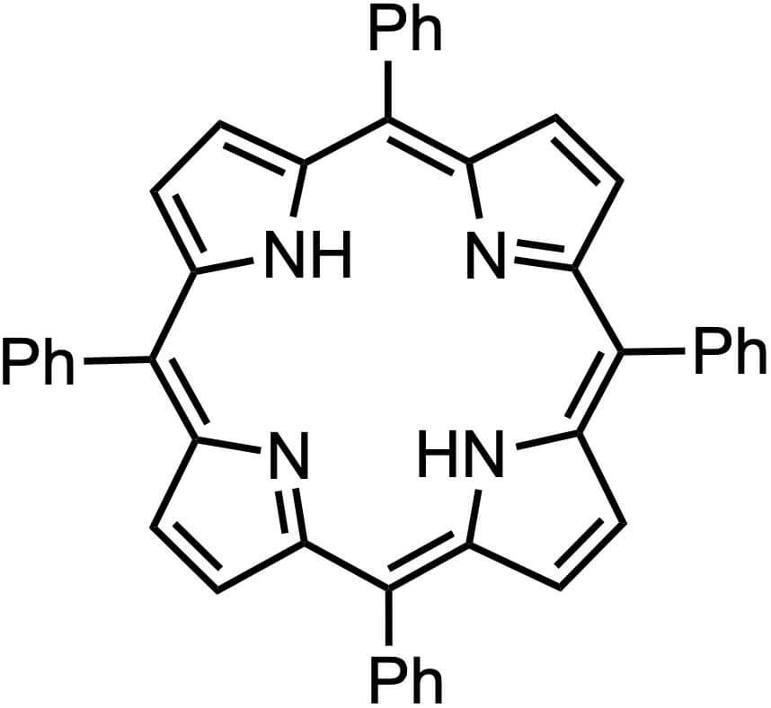 テトラフェニルポルフィリンの構造式