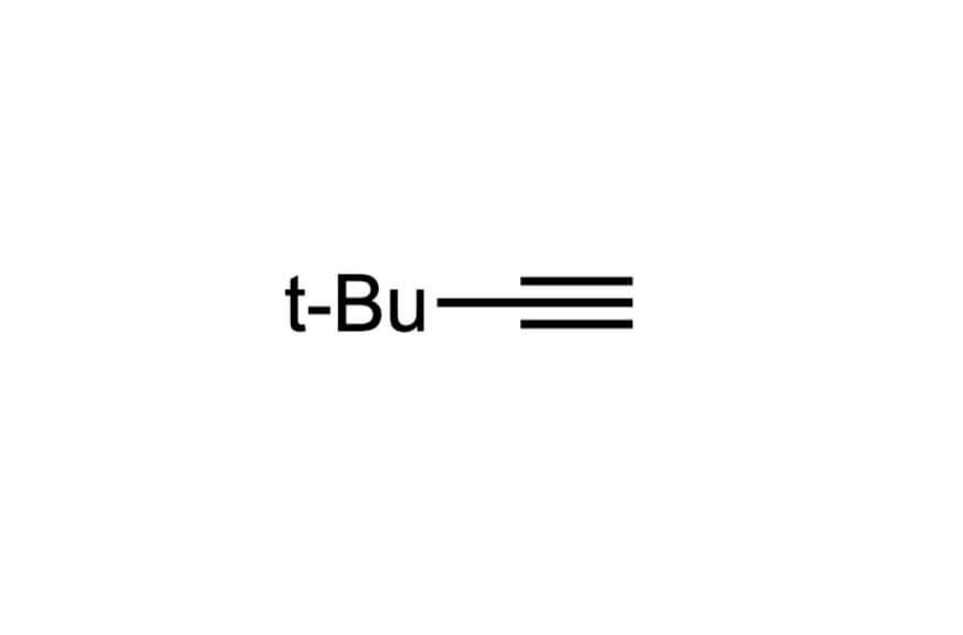 3,3-ジメチル-1-ブチンの構造式
