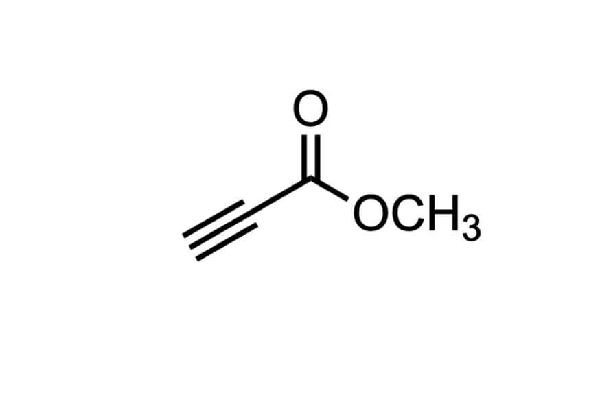 プロピオル酸メチルの構造式