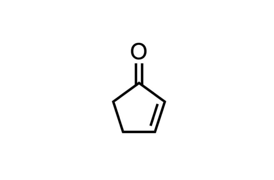 2-シクロペンテン-1-オンの構造式