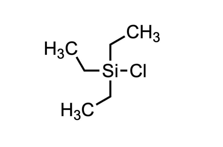 クロロトリエチルシランの構造式