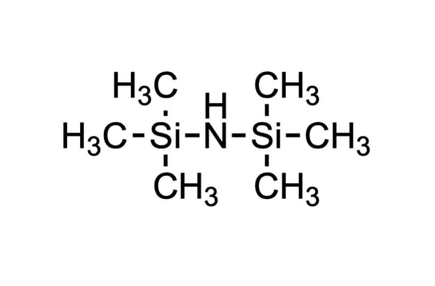 1,1,1,3,3,3-ヘキサメチルジシラザンの構造式