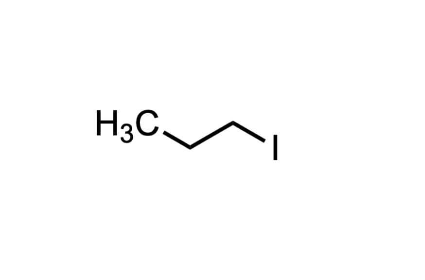 1-ヨードプロパンの構造式