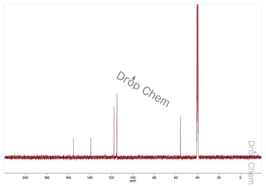 4-メトキシフェニルヒドラジン塩酸塩の13CNMRスペクトル