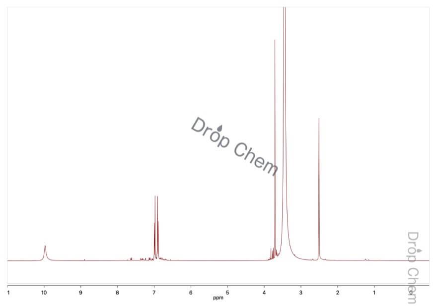 4-メトキシフェニルヒドラジン塩酸塩の1HNMRスペクトル