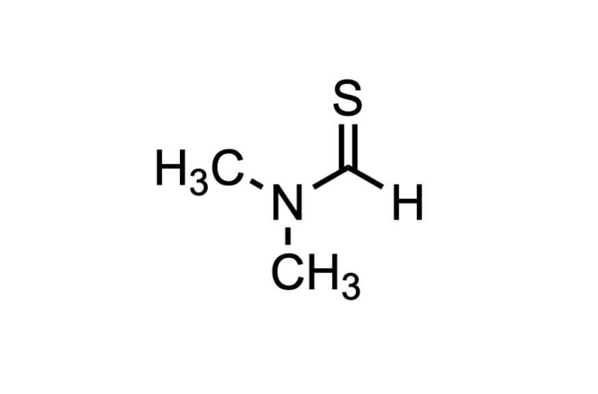N,N-ジメチルチオホルムアミドの構造式