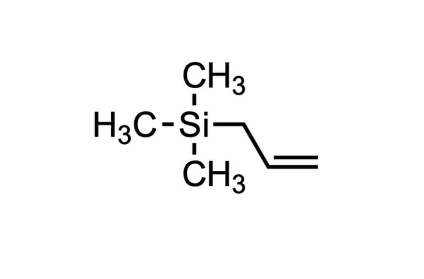 アリルトリメチルシランの構造式