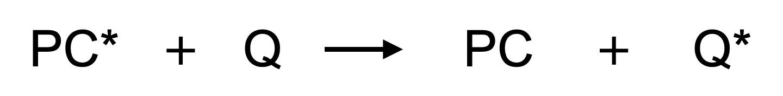 光触媒から消光剤へのエネルギー移動